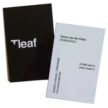 visitekaartje T-leaf